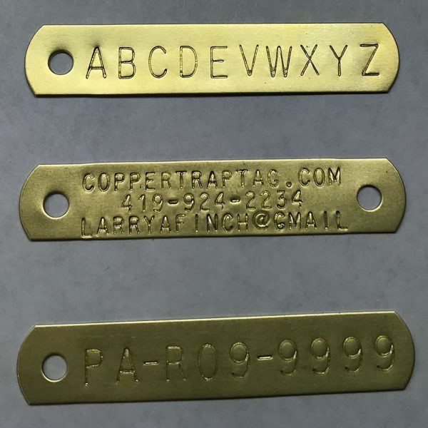 Brass Trap Tags